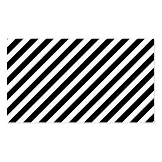 Black and White Diagonal Stripes. Pack Of Standard Business Cards