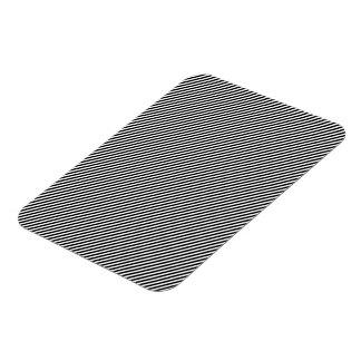 Black and White Diagonal Stripes Rectangular Photo Magnet