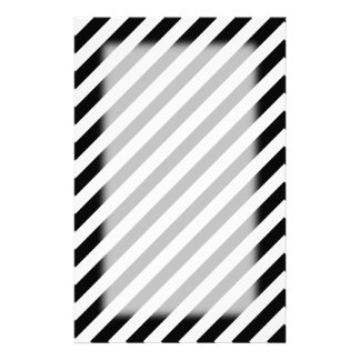 Black and White Diagonal Stripes. Stationery