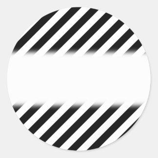 Black and White Diagonal Stripes Stickers