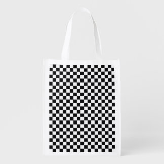 Black And White Diamond-Checkerboard