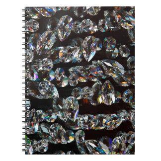 Black and White Diamond - Crystal Gems Print Notebooks