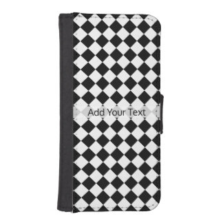 Black and White Diamond Pattern by Shirley Taylor iPhone SE/5/5s Wallet Case