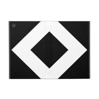 Black and White Diamond Pattern iPad Mini Case