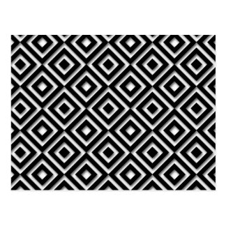 Black and White Diamond Print Postcard