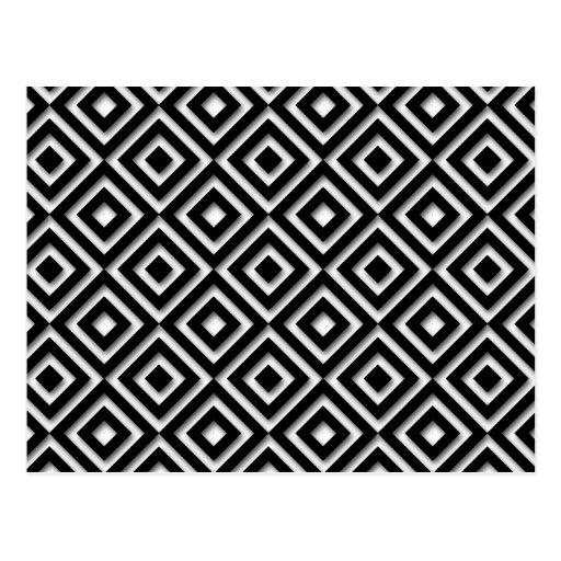 Black and White Diamond Print Post Card