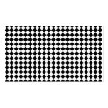 Black And White Diamond Shape Pattern Pack Of Standard Business Cards