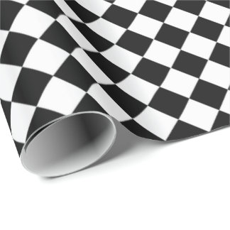 Black And White Diamond Shape Pattern by STaylor Wrapping Paper