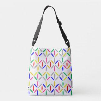 Black and white diamond stripe bold colourful bag