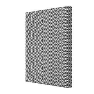 Black and white diamonds canvas stretched canvas prints