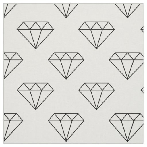 Black And White Diamonds Fabric