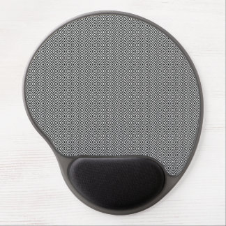 Black and white diamonds gel mousepad