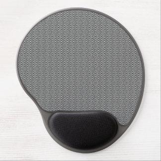 Black and white diamonds gel mousepad