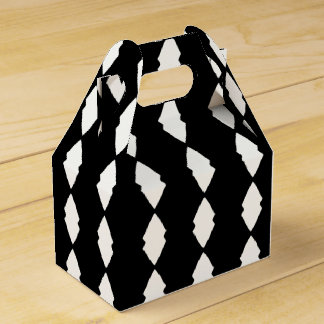 Black and White Diamonds Party Favor Boxes