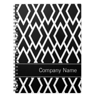 Black and White Diamonds Personalized Spiral Notebooks