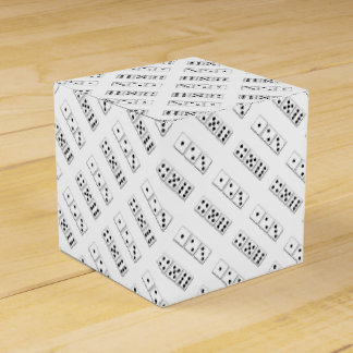 Black and White Dice Pattern Favour Box