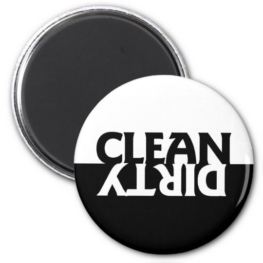 Black and White Dishwasher Magnet