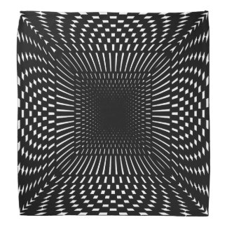 Black and White Distorted Checkered Pattern Do-rags