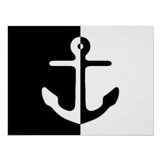 Black And White Divide Anchor Poster