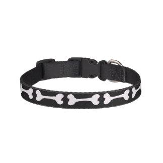 Black and White Dog Bone Collar