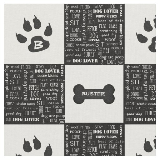 Black and White Dog Bone | Name and