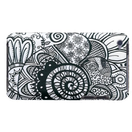 """""""Black and White"""" Doodle 4th Generation iPod Touch Case"""