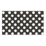 Black and White Dots Business Card
