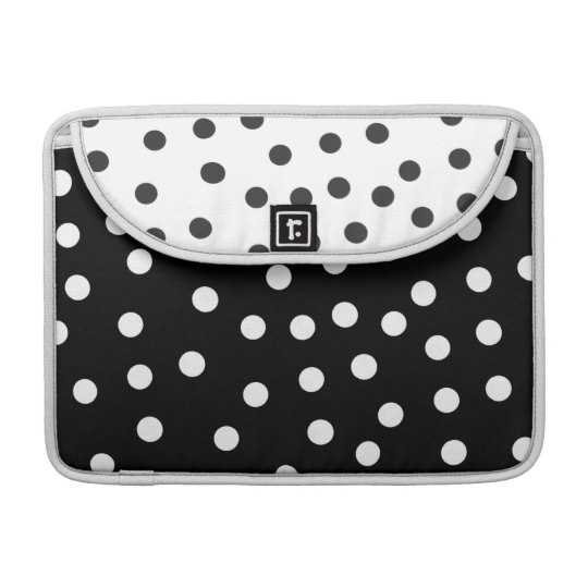 Black and White Dots Macbook Pro Sleeve