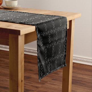 Black And White Dots Short Table Runner