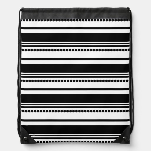 Black and White Dots, Stripes Backpack
