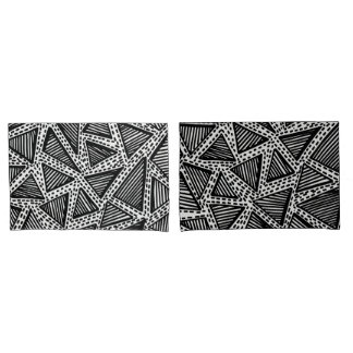 Black and White Dotted Triangle Pillowcase Covers