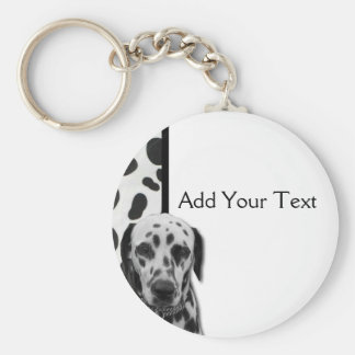 Black and White Dotty Dalmatian Key Ring
