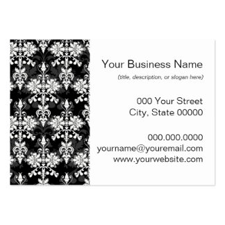 Black and White Double Damask Business Card