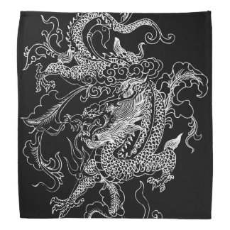 Black and White Dragon Bandana