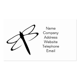 Black And White Dragonfly Business Card