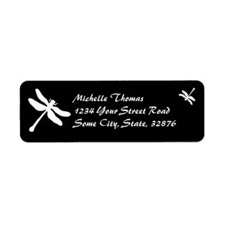 Black and White Dragonfly Wedding