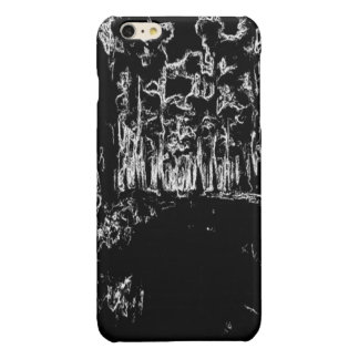 black and white drawing iPhone 6 plus case