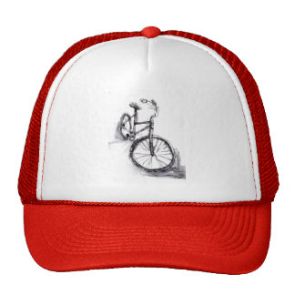 Black and White Drawing Of Bike Cap