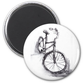 Black and White Drawing Of Bike Magnet