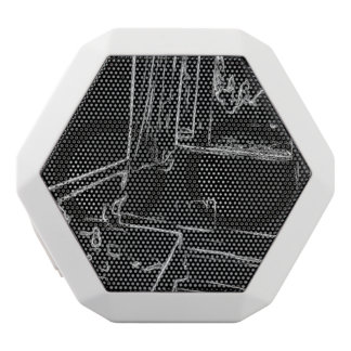 black and white drawing resting room white boombot rex bluetooth speaker