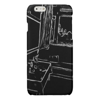black and white drawing resting room iPhone 6 plus case