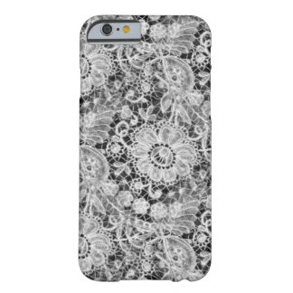 Black and White Duchess Lace Barely There iPhone 6 Case