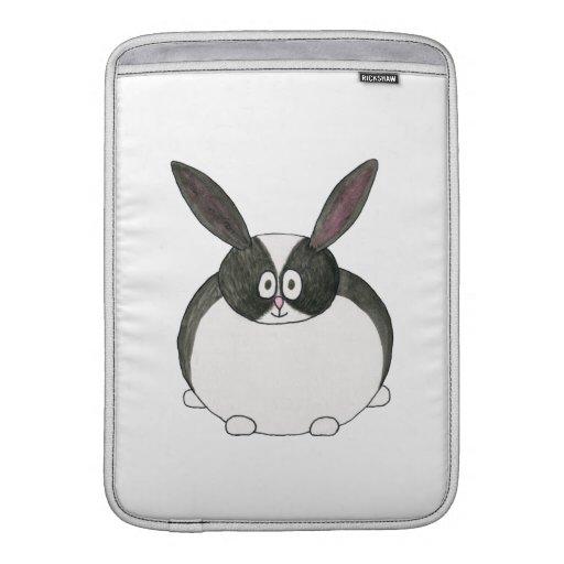 Black and White Dutch Rabbit. MacBook Air Sleeves