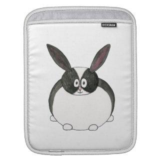 Black and White Dutch Rabbit. iPad Sleeve