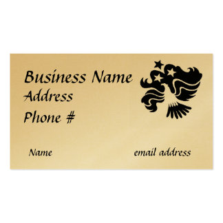 Black and white eagle business card