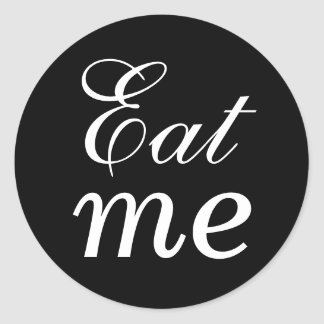 Black and White Eat Me Sticker