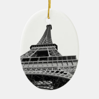 Black and White Eiffel Tower Ornament