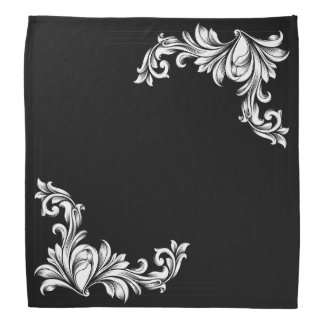 BLACK AND WHITE ELEGANCE BANDANA