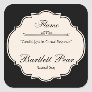 Black and White Elegance Candle Label