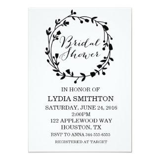 Black and White Elegant Bridal Shower Invitation
